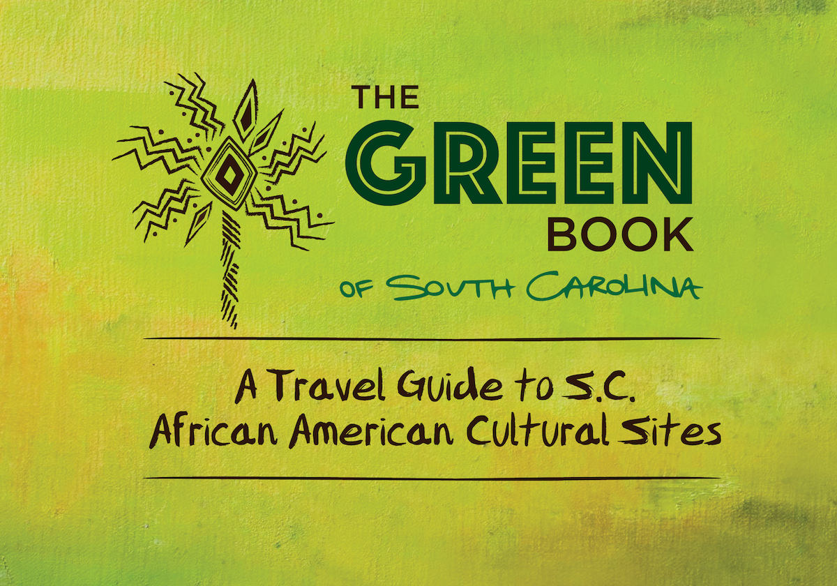 Green Book of SC logo with tagline-African-American-Palmetto-Tree-Graphic