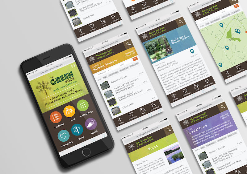 Mobile Screen with listing pages-Green Book of SC photo