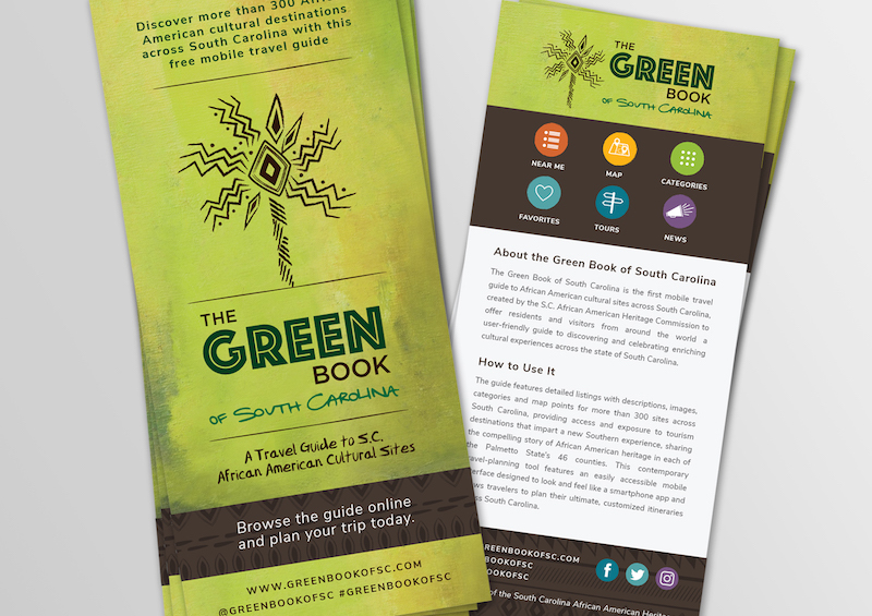 Rack Cards - Green Book of South Carolina - photo graphic